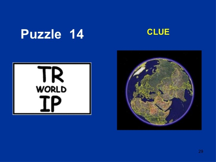 Puzzle  14 CLUE