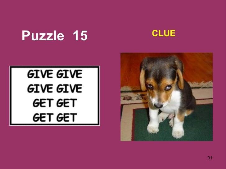 Puzzle  15 CLUE