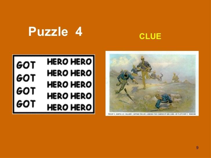Puzzle  4 CLUE