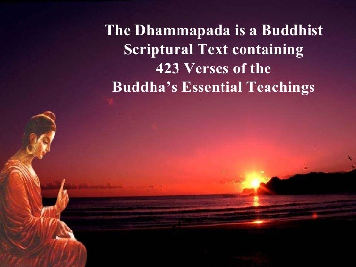 Essay on the dhammapada