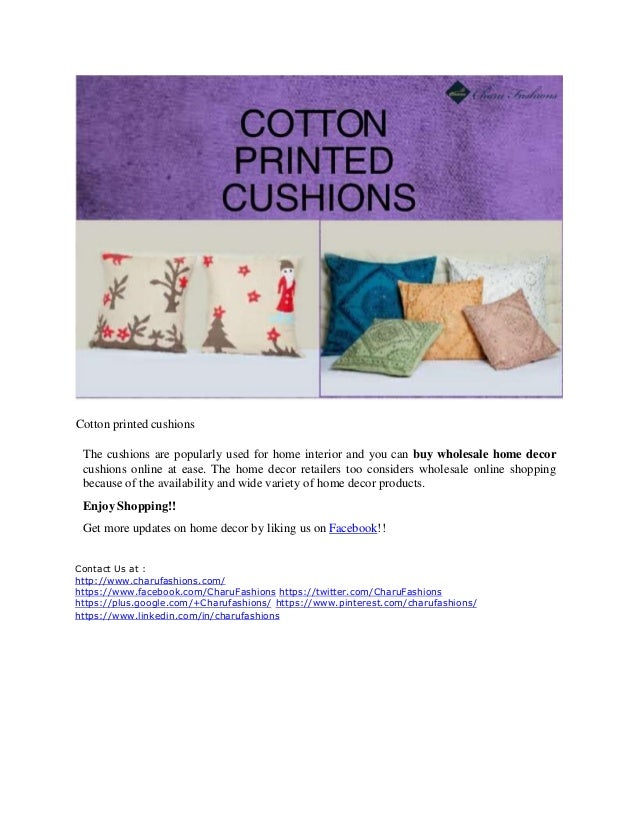 Wholesale home decor 5 types of cushions for a beautiful for Types of home decor