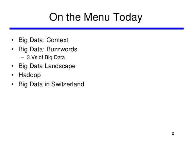 An Introduction to Big Data Slide 2