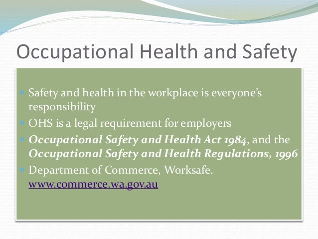 Occupational health and safety act wa pdf reader