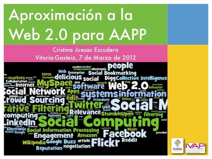 Aproximación a la web social para Administraciones Públicas