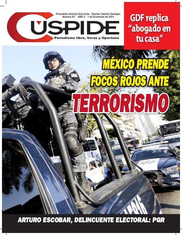 """Presidente Antonio Grez Grez Director Gabriel Zendejas Número 20 AÑO 2 1 de Diciembre de 2015 GDFreplica """"abogadoen tucasa..."""