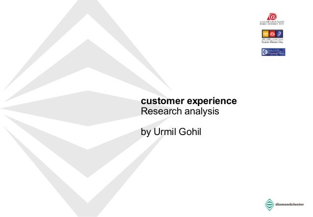 customer experience Research analysis by Urmil Gohil