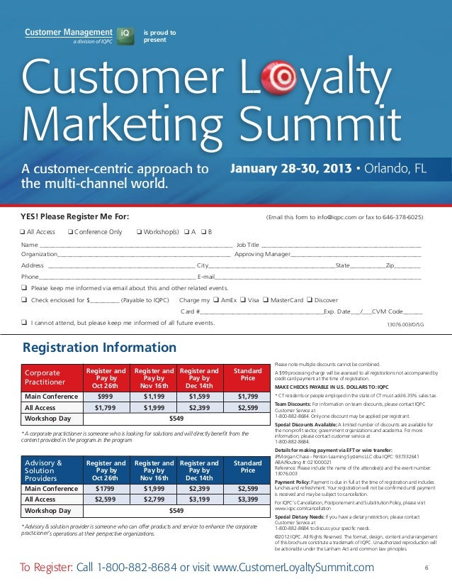 Marketing Plan For The Summit Club Loyalty