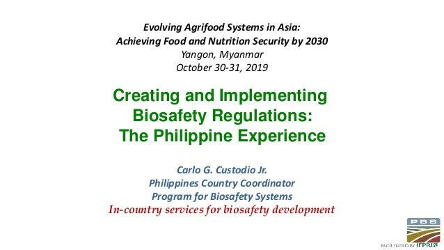 Evolving Agrifood Systems in Asia: Achieving Food and Nutrition Security by 2030 Yangon, Myanmar October 30-31, 2019 Carlo...