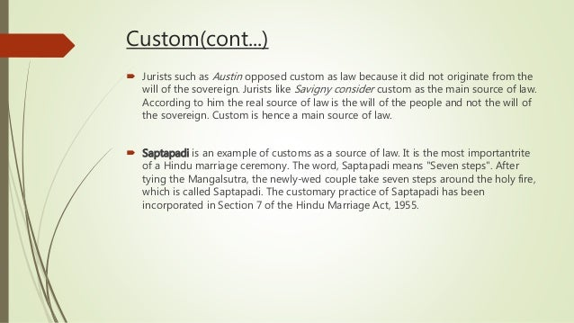 examples of custom law