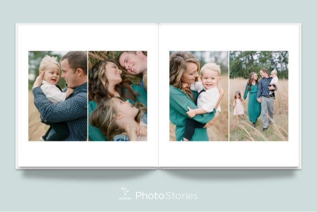 Custom family portrait album design by photo stories - Customiser album photo ...