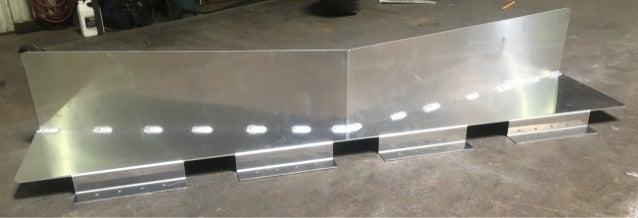 LMCurbs Custom Snow Diverter in Production # 7