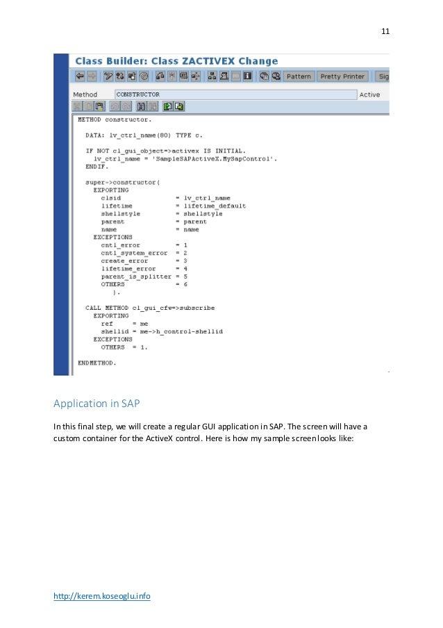 Embedding custom ActiveX controls into SAP GUI