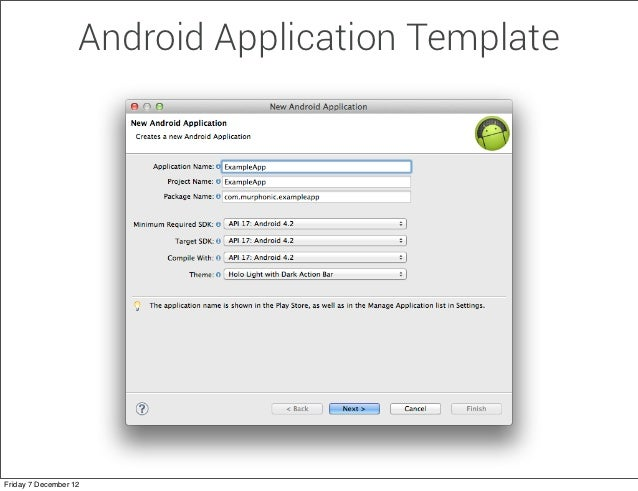 Custom Android Code Templates