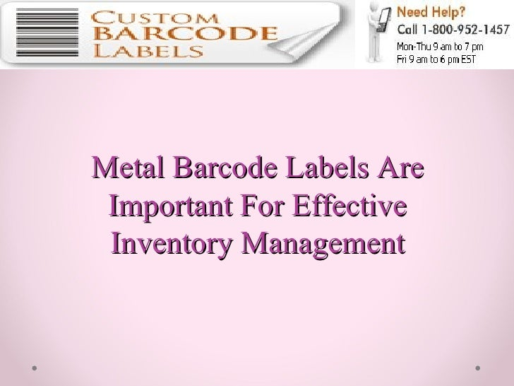 Metal Barcode Labels Are Important For Effective Inventory Management