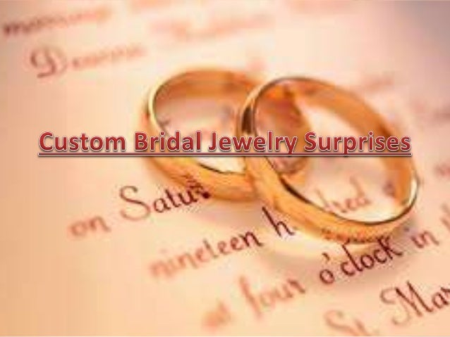Select a custom bridal jewelry as a personalized substitute in your bridesmaid's jewelry as in personalized gold jewelry, ...