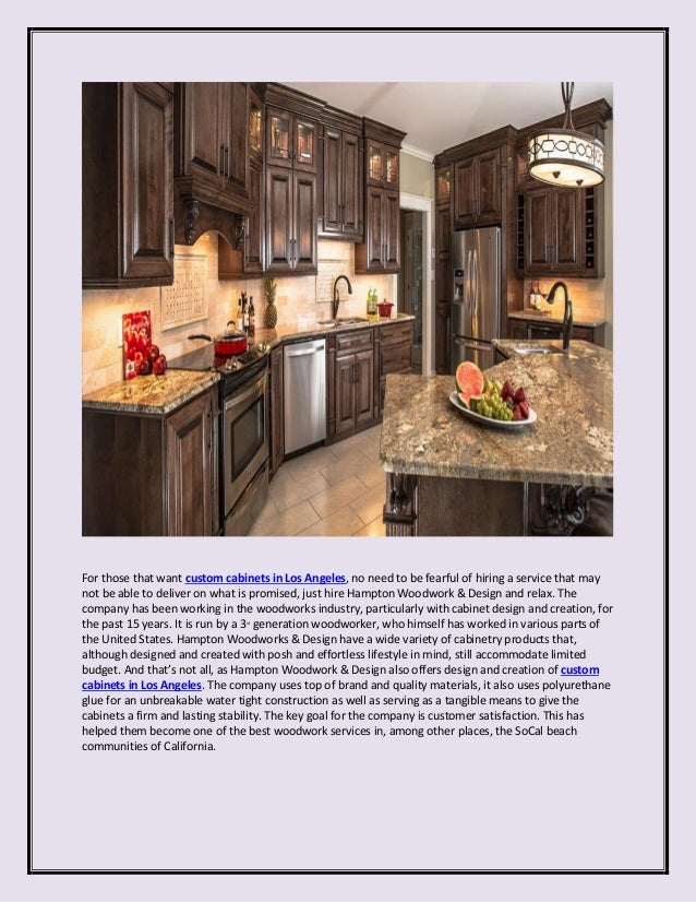 3. For Those That Want Custom Cabinets In Los Angeles ...