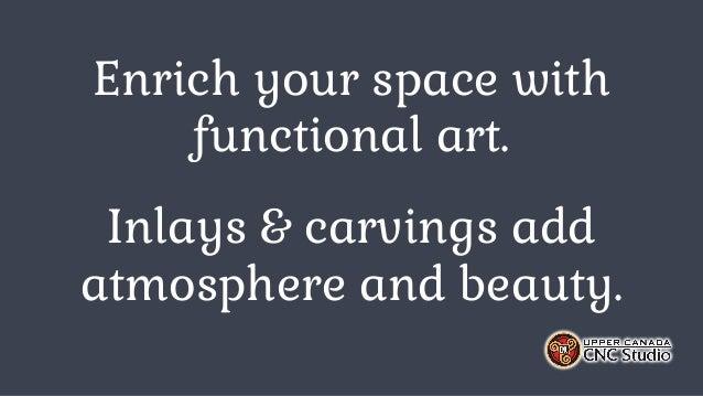 Custom Carvings & Inlays by Upper Canada CNC Studio Slide 2