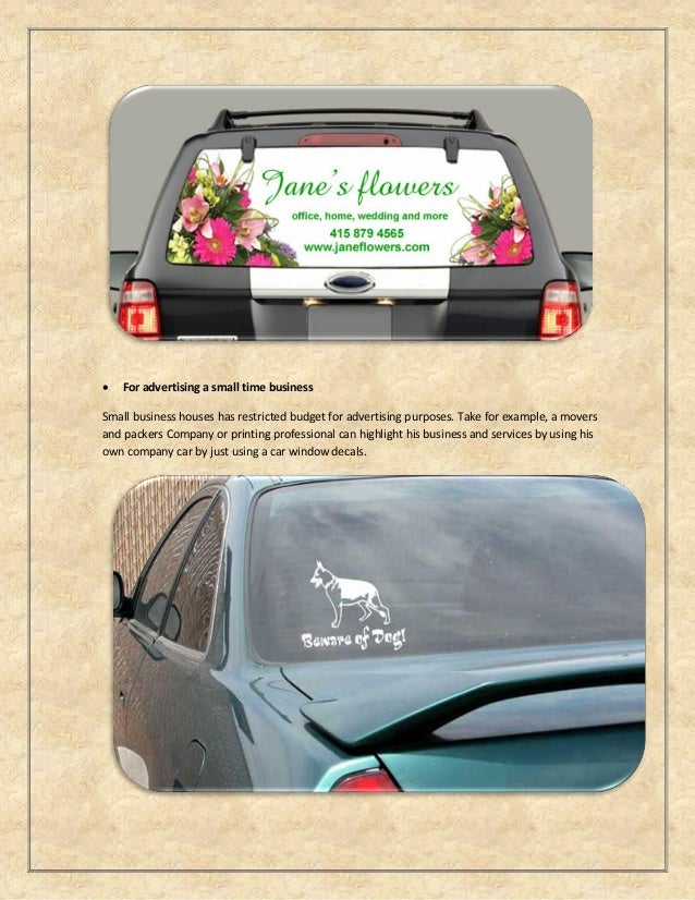 Custom Car Window Decals - Car window clings custom