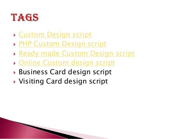 Custom design script php custom design script ready made custom d 8 custom design script reheart Images