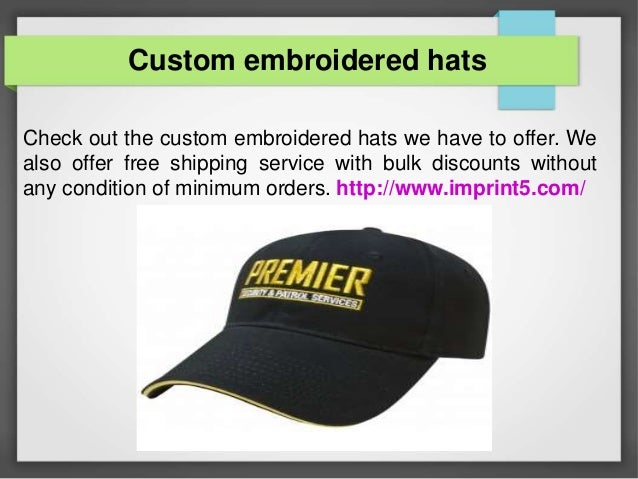 bc6b24ae9443d Custom embroidered hats Check out the custom embroidered hats we have to  offer.
