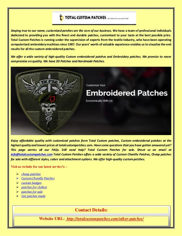 Custom Embroidered Patches Embroidery Patches Online