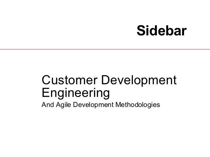 Sidebar Customer Development Engineering   And Agile Development Methodologies