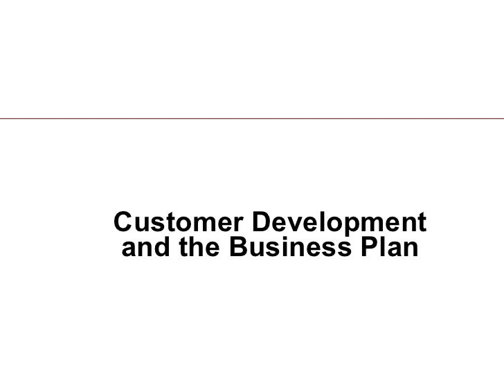 Customer Development and the Business Plan