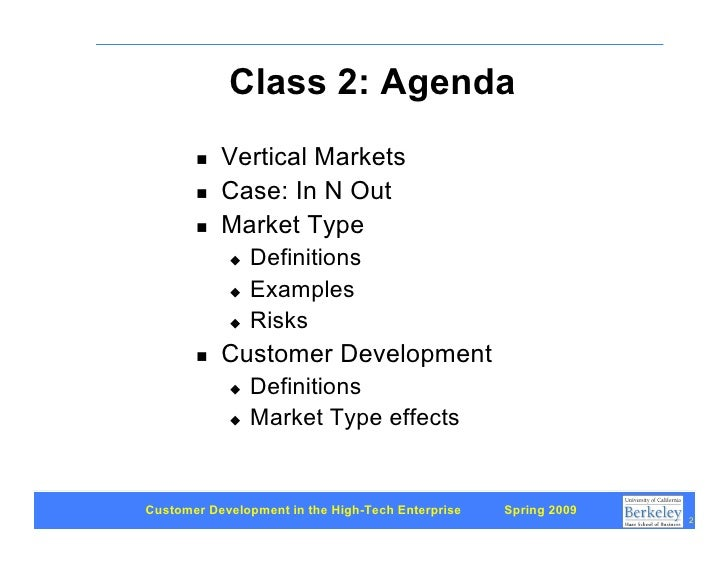 Customer Development 2: Three types of markets Slide 2