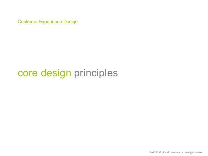 Customer Experience Design Talk Idris Mootee