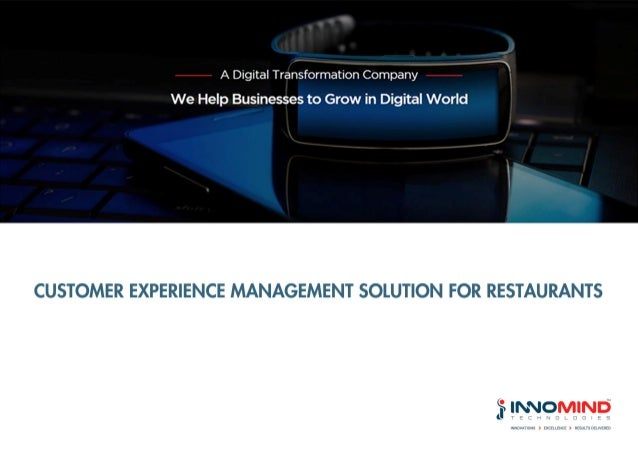 Customer Experience Management Solution for Restaurants