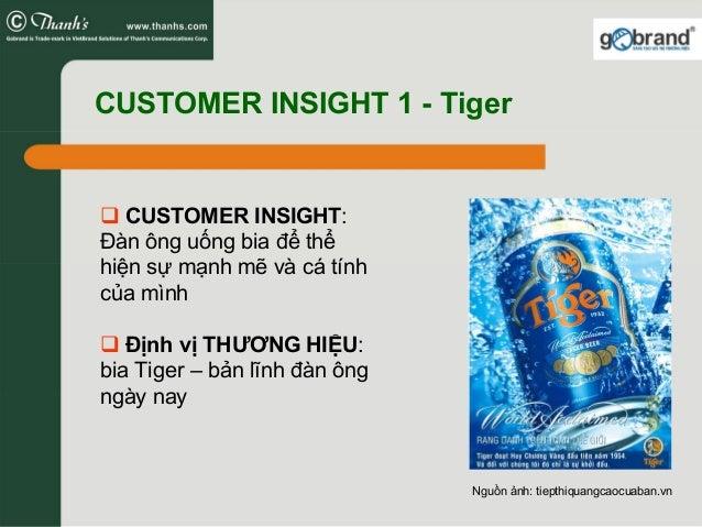 CUSTOMER INSIGHT 1 - Tiger CUSTOMER INSIGHT: Đàn ông uống bia để thể hiện sự mạnh mẽ và cá tính của mình Định vị THƯƠNG HI...