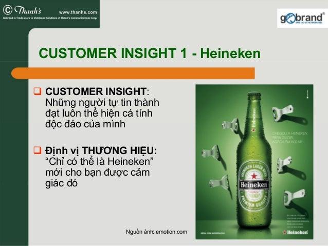 CUSTOMER INSIGHT 1 - Heineken CUSTOMER INSIGHT: Những người tự tin thành đạt luôn thể hiện cá tính độc đáo của mình Định v...