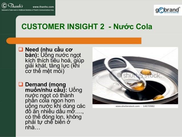 CUSTOMER INSIGHT 2 - Nước Cola Need (nhu cầu cơ bản): Uống nước ngọt kích thích tiêu hoá, giúp giải khát, tăng lực (khi cơ...
