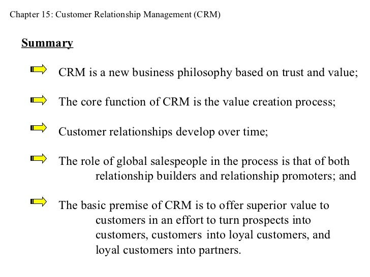 the value creation process in customer relationship management payne
