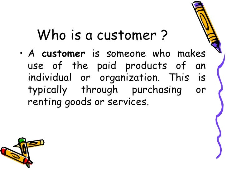 customer definition by authors
