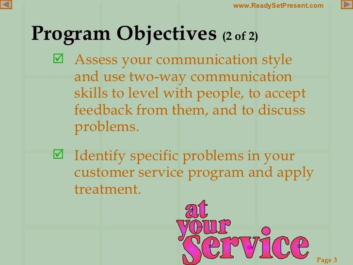 examples of customer service objectives