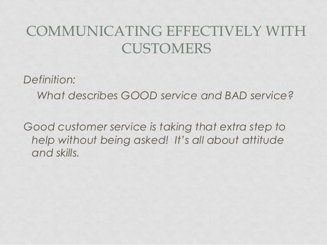 Customer service-power presentation