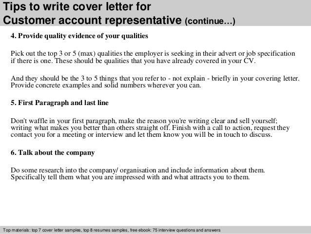 4 tips to write cover letter for customer account representative