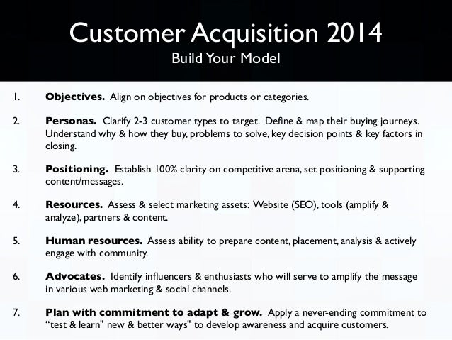 Online customer acquisition 2014, via web marketing Slide 3