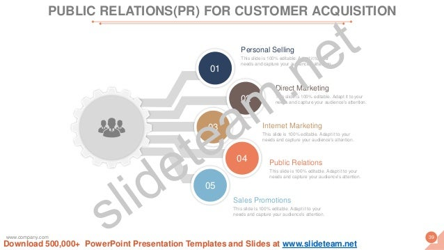 01 02 03 04 05 This slide is 100% editable. Adapt it to your needs and capture your audience's attention. Personal Selling...