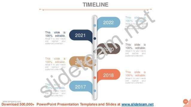 2021 2022 2020 2018 2017 2019 This slide is 100% editable. Adapt it to your needs and capture your audience's attention. T...