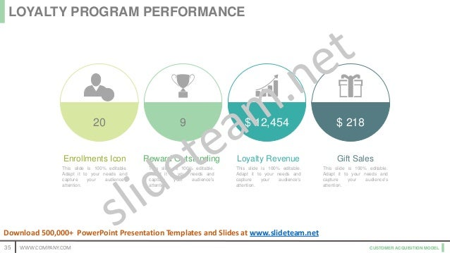 CUSTOMER ACQUISITION MODEL Enrollments Icon This slide is 100% editable. Adapt it to your needs and capture your audience'...