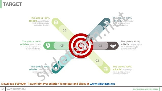CUSTOMER ACQUISITION MODEL 05 02 04 03 06 01 This slide is 100% editable. Adapt it to your needs and capture your audience...