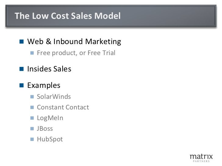 Sales process:  Touch and Complexity versus Value  Value                                                     Product Compl...