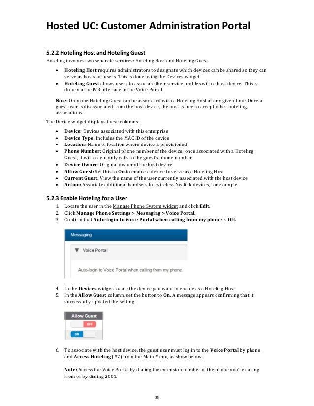 Customer Administration Portal User Guide