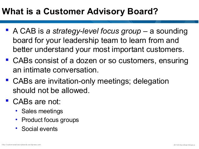 Customer advisory boards best practices stopboris