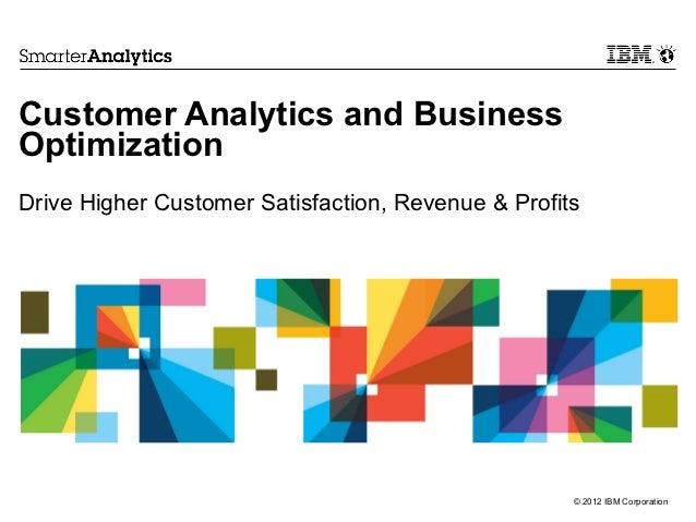 Customer Analytics and BusinessOptimizationDrive Higher Customer Satisfaction, Revenue & Profits                          ...