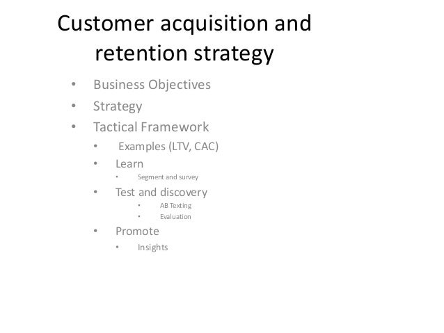 customer acquisition retention mcdonalds Plainly, then, it's a good idea to integrate the management of customer acquisition, customer retention, and profitability however.