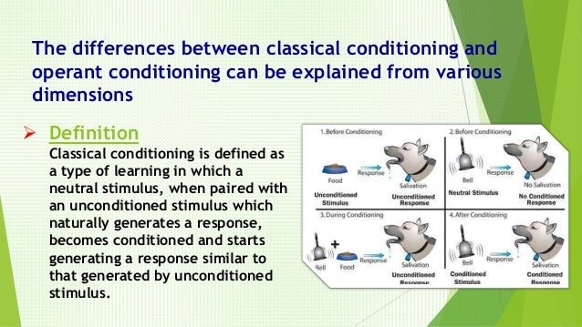 what is the difference between classical conditioning and operant conditioning