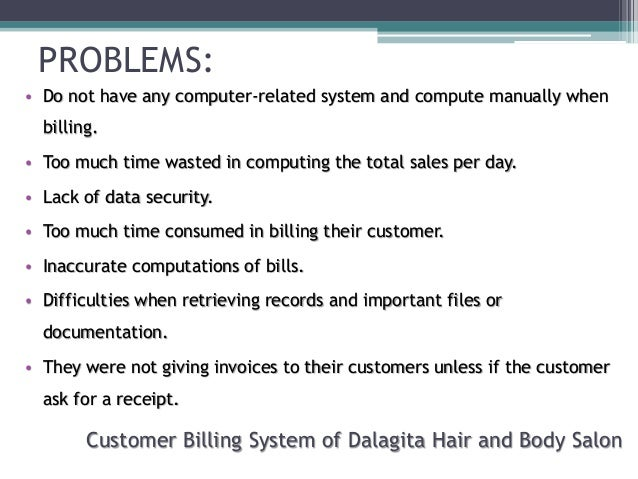 enrolment and billing system scope and delimitation The billing system is one of the major parts of an enrolment system a billing system is a significance of the study and scope and delimitation introduction.